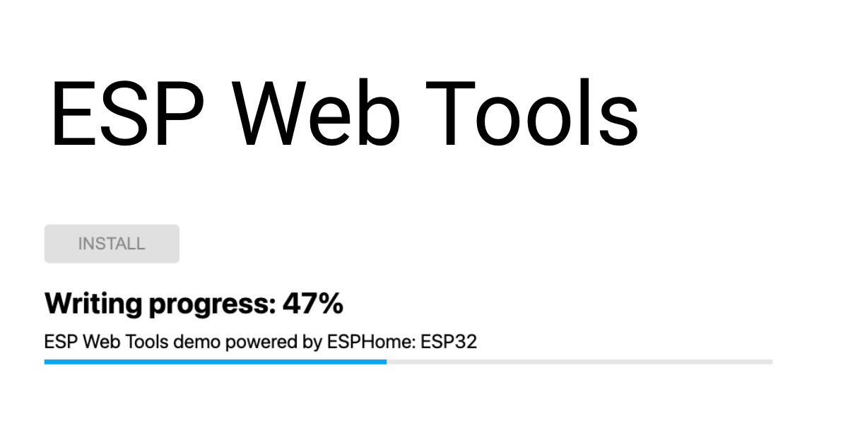 ESP Web Tools is a set of open source tools to allow working with ESP         devices in the browser.         The code is available on GitHub